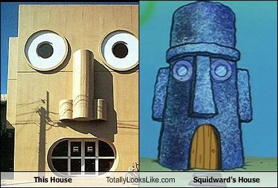 This House Totally Looks Like Squidward's House