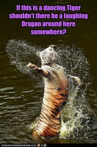 dragon,dancing,crouching tiger hidden dragon,tigers,lauging,water,Movie