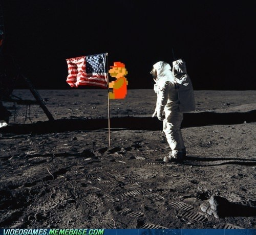 Mario On the Moon