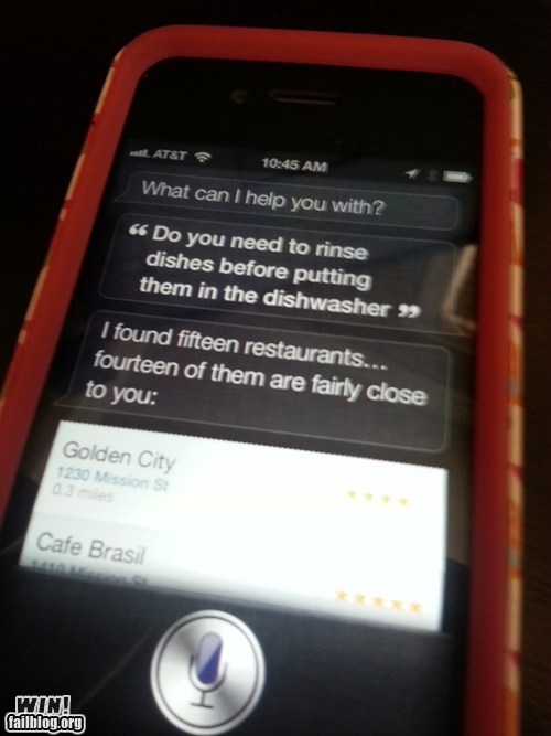 siri,restaurants,dishes,g rated,AutocoWrecks