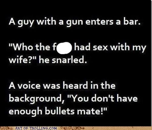 bar,cheating,gun