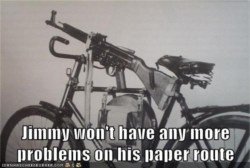 Jimmy won't have any more problems on his paper route