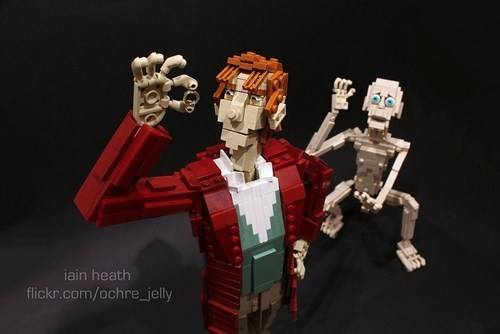 Lego Bilbo and Gollum