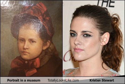 Portrait in a museum Totally Looks Like Kristen Stewart