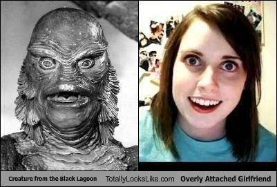 Creature from the Black Lagoon Totally Looks Like Overly Attached Girlfriend