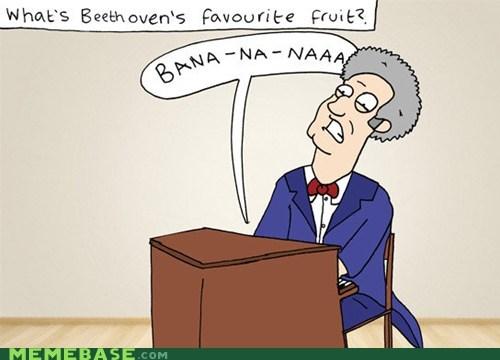 Beethoven LOVED Bananas