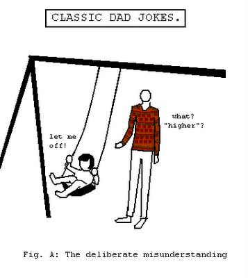 dad jokes,swinging,misunderstanding