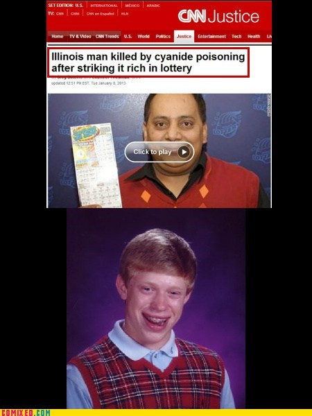 Bad Luck Brian Used His Only Good Luck