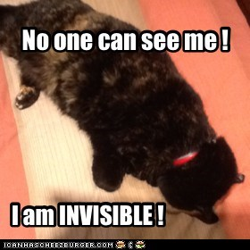 No one can see me !