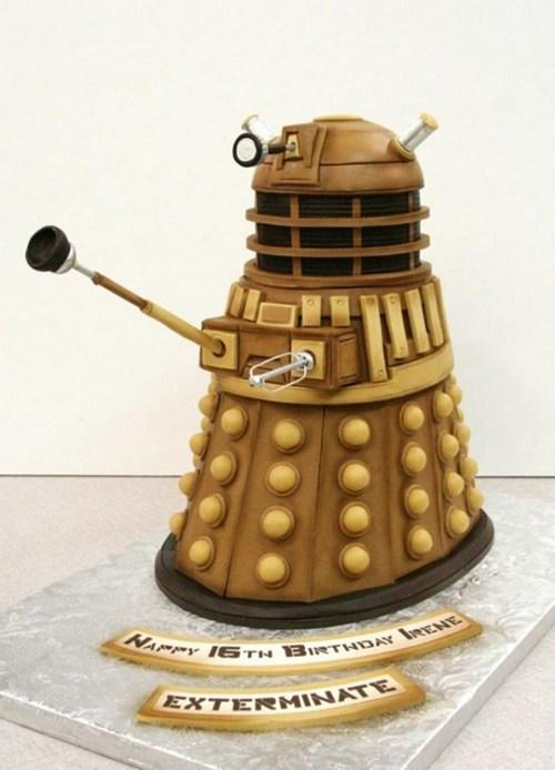 cake,dalek,nerdgasm,doctor who,g rated,win
