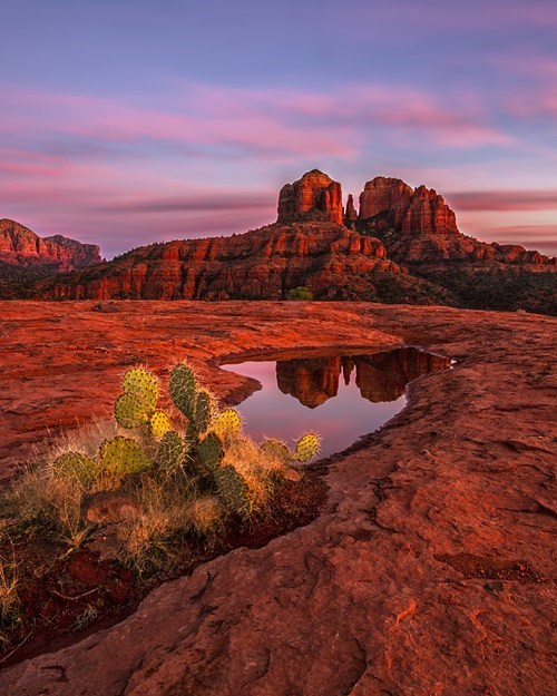Sundown at Cathedral Rock, Arizona