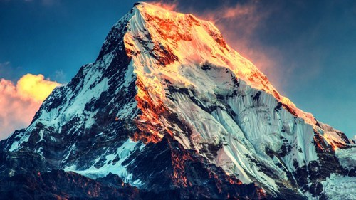 Hiking,Mt Everest,mountain,sunset