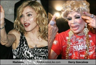 Madonna Totally Looks Like Dercy Goncalves