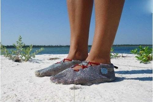 chainmail,beach,sandals