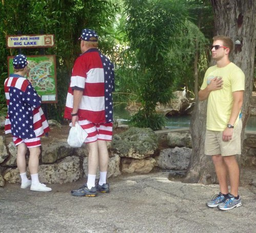 outfit,pledge allegiance,'murica!,flag