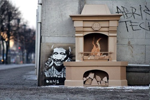 Cardboard Street Art WIN