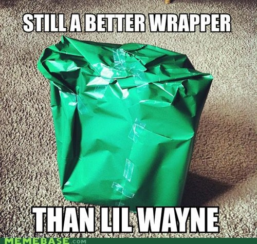 wrapping paper,rappers,lil wayne,burn