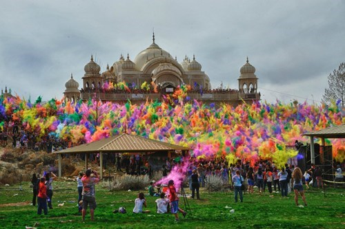 The Holi Festival at Sri Sri Radha Krishna Temple