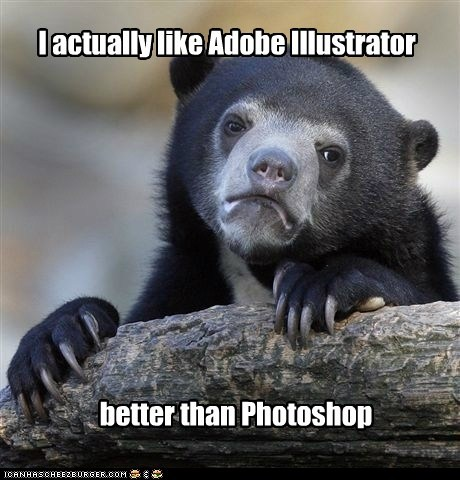 Illustrator vs. Photoshop