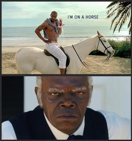 old spice,Movie,stephen,django unchained,horse