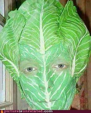 they said i could be anything,lettuce,face paint