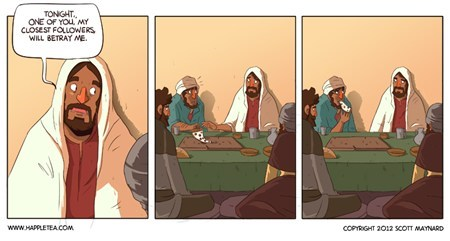 jesus,pizza,the last supper,comic
