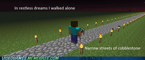 walked alone,awesome,minecraft