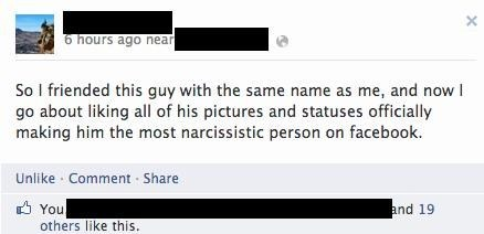 like,stealing,facebook,narcissistic,name