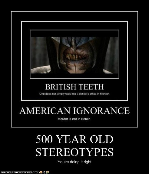 500 YEAR OLD STEREOTYPES