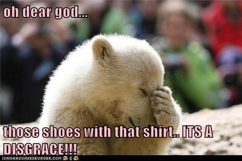 fashion,facepalm,polar bears,disgrace