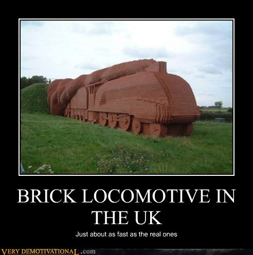 BRICK LOCOMOTIVE IN THE UK