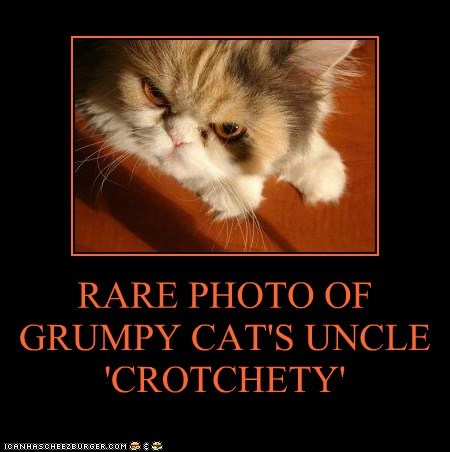 RARE PHOTO OF GRUMPY CAT'S UNCLE 'CROTCHETY'