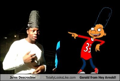 Jules Descroches Totally Looks Like Gerald from Hey Arnold!