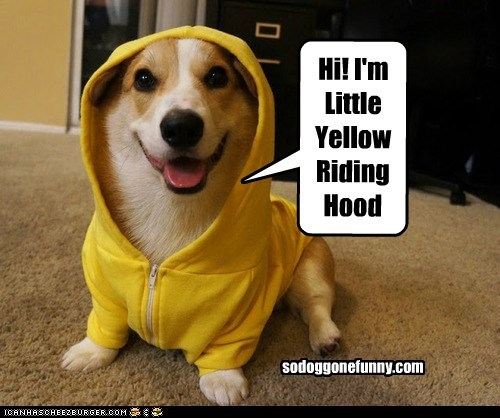 Hi! I'm Little Yellow Riding Hood