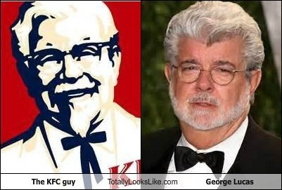 The KFC guy Totally Looks Like George Lucas