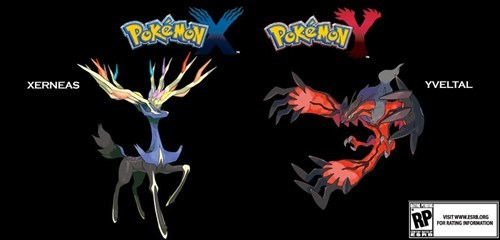 Official Artwork Of Xerneas and Yveltal