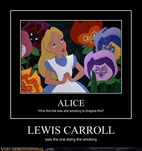 alice in wonderland,Lewis Carroll,smoking