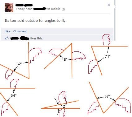 grammar nazi,fly away,Angles,cold,facebook