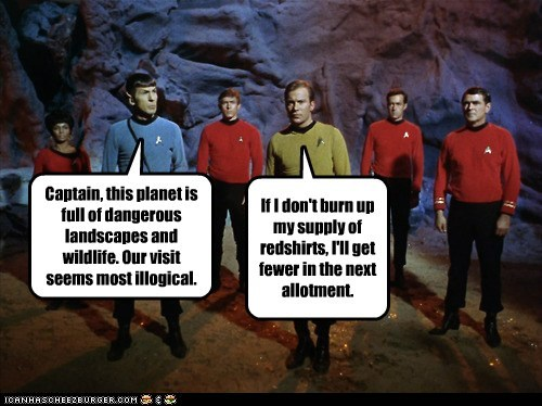 Captain Kirk,scotty,Spock,uhura,red shirts,Leonard Nimoy,William Shatner,Shatnerday,james doohan,quota,supply,Nichelle Nichols