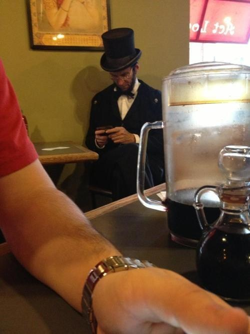 Even Honest Abe Likes Texting
