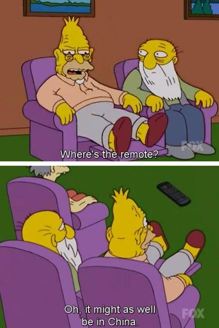 remote,China,TV,simpsons