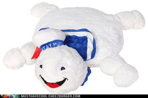 Ghostbusters Stay Puft Marshmallow Man Pillow Pet