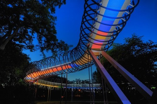 Slinky Meets Architecture in Oberhausen, Germany