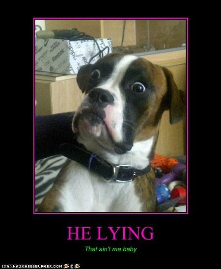 HE LYING