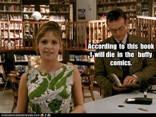 buffy summers,comics,die,Anthony Stewart Head,future,book,Buffy the Vampire Slayer,Rupert Giles