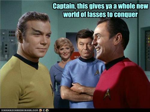 makeup,Captain Kirk,disguise,scotty,McCoy,romulans,conquer,DeForest Kelley,William Shatner,Shatnerday,james doohan,women