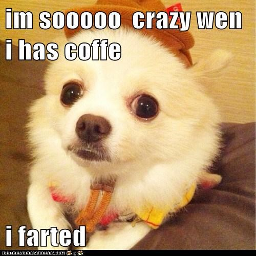 im sooooo  crazy wen i has coffe   i farted