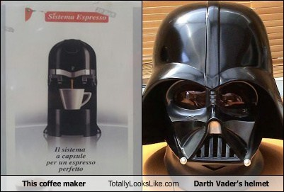 This coffee maker Totally Looks Like Darth Vader's helmet