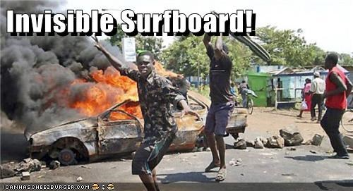 Invisible Surfboard!