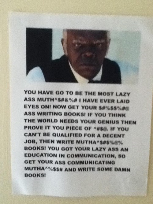 motivation samuel l jackson,writing,School of FAIL
